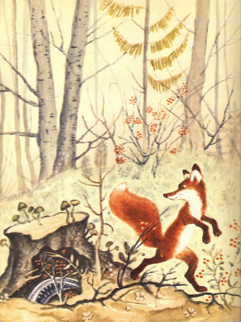 Library things the fox in russian book illustrations for Russian foxy
