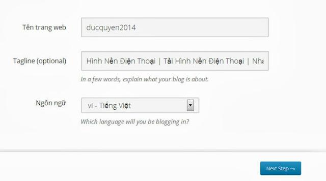 Hướng dẫn cài đặt blog wordpress