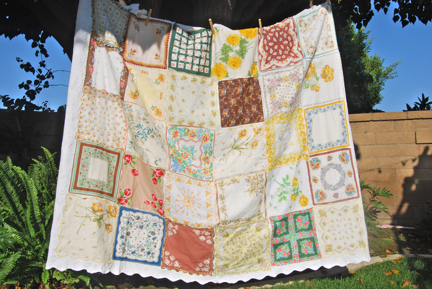 Dishfunctional Designs Vintage Handkerchiefs Scarves Upcycled And
