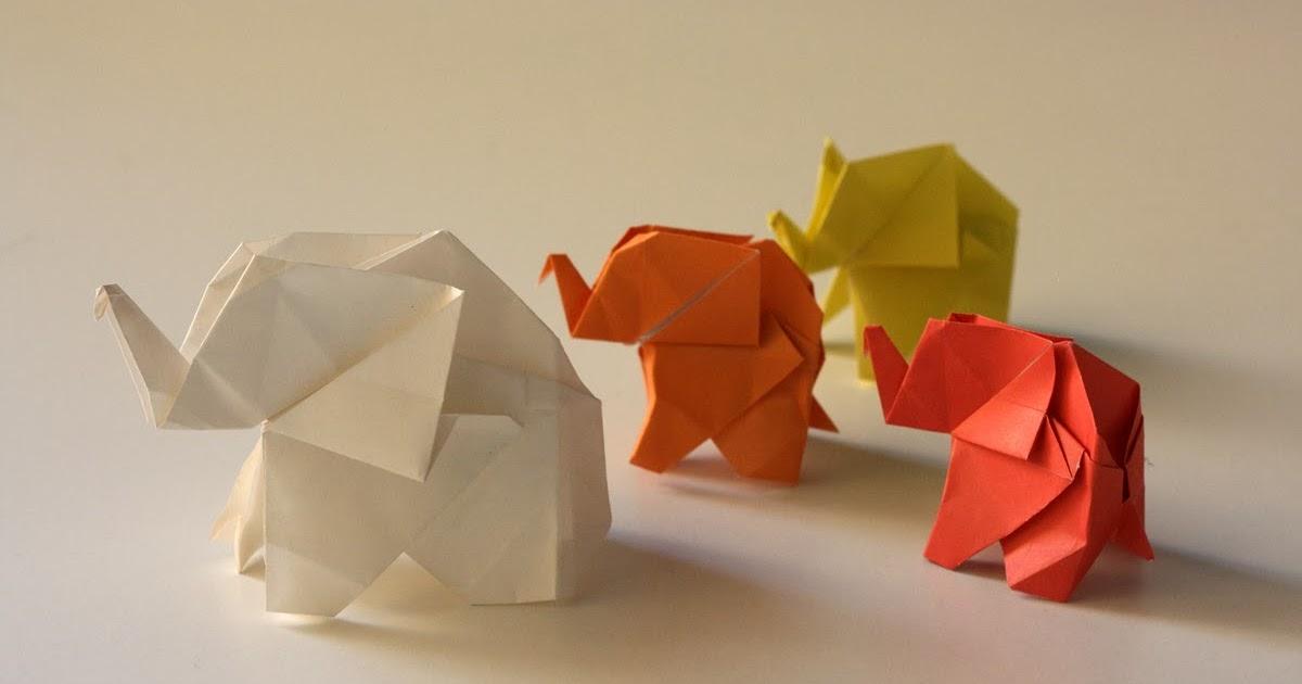 origami maniacs origami elephant by fumiaki kawahata