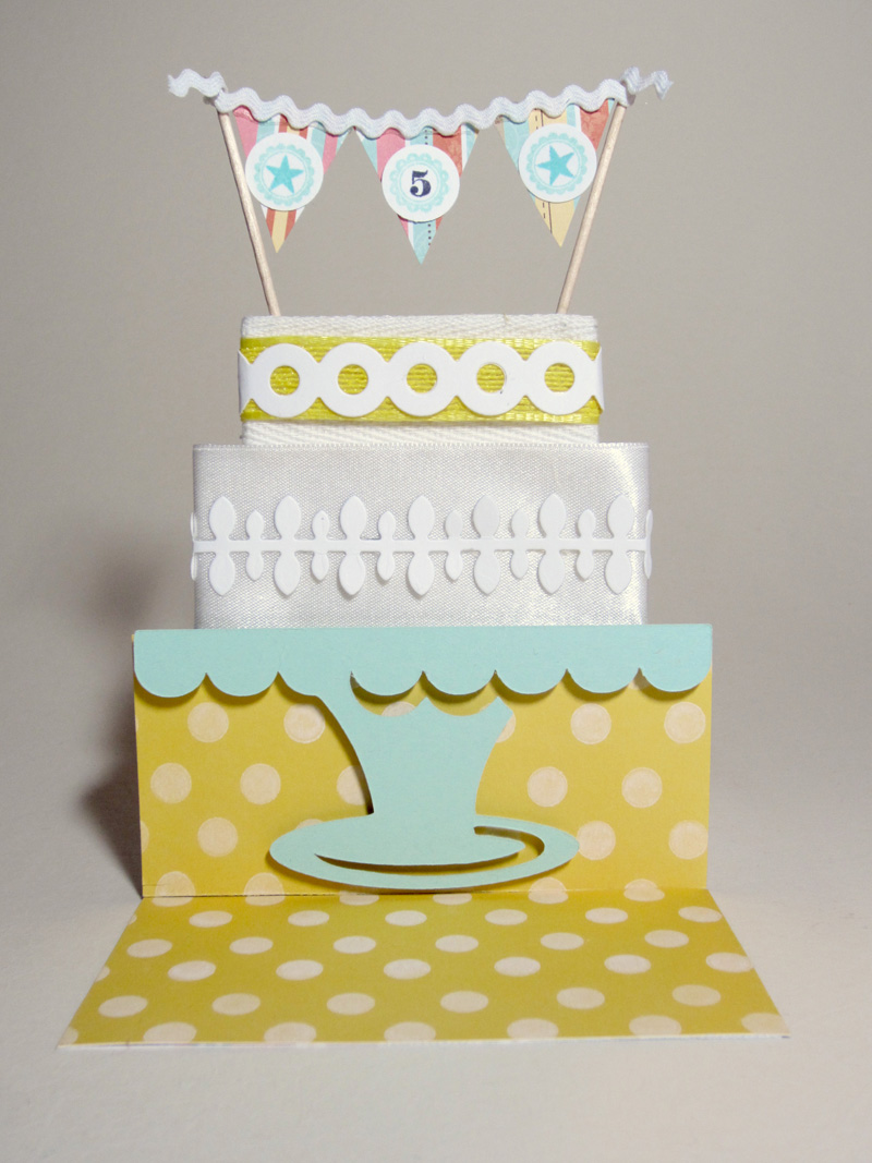 Notable Nest: Birthday Cake Banner Card [PTI Blog Hop]