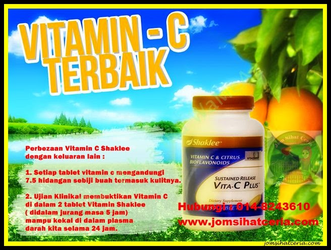 Vita-C, Produk SHAKLEE, Kongsi, Pengedar Shaklee Kuantan,