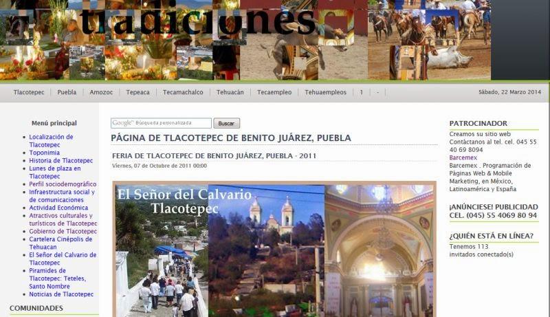 Página de Tlacotepec de Benito Juárez, Puebla
