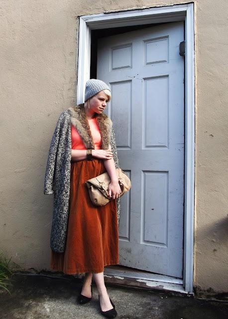 Fall Fashion Vintage velvet & fur