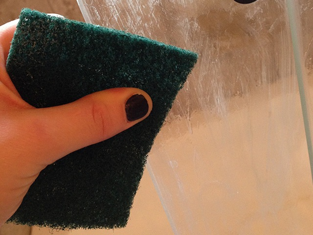 Everyday SImple | Green Scrubbers + Fabric Softeners to Clean Shower Doors