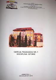 Mapa de lucru, Cercul pedagogic nr. 1 al profesorilor de istorie, 9.XI.2011...