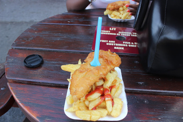 Fish and chips in Blackpool