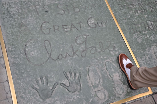 Clark Gable footprints Grauman's Chinese Theater by Lady by Choice