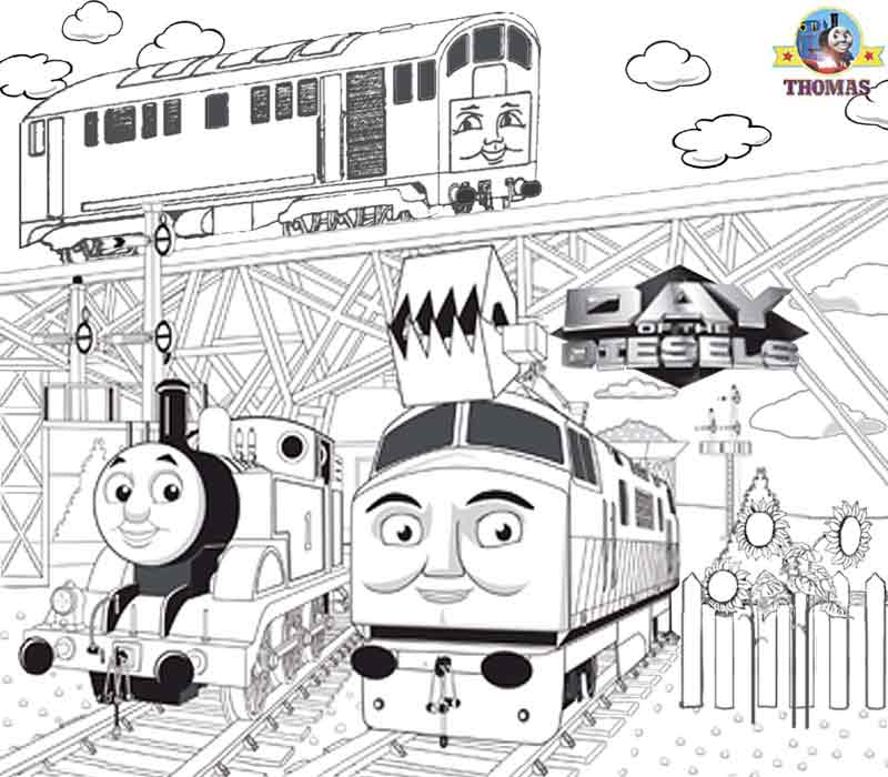 of the Diesels Thomas and friends Diesel 10 coloring images to print title=