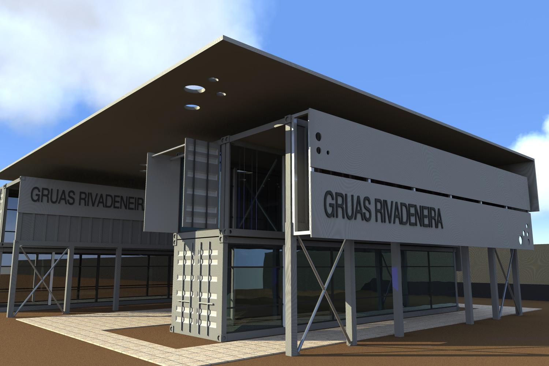 Cristian fernandez arquitecto oficina con contenedores for Diseno de oficinas con contenedores