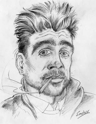 Colin Farrell caricature