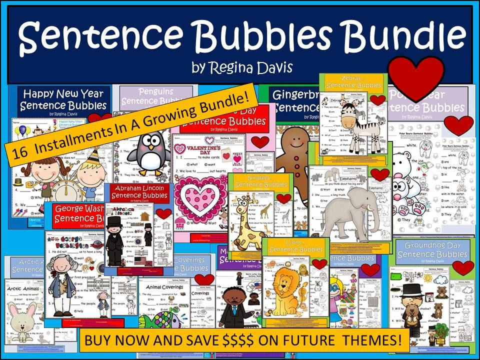 http://www.teacherspayteachers.com/Product/A-Sentence-Bubbles-Literacy-BundleSAVE--1033224