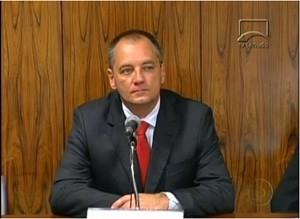 Cláudio Abreu, ex-diretor da Delta, em 30 de maio, na CPI do Cachoeira