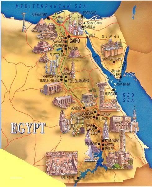 Funterest Is The World Of Funny Interesting Amazing Images And - Map of egypt historical sites