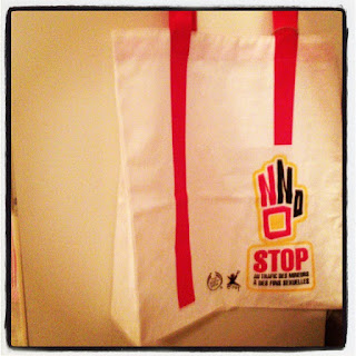 Stop the trafficking of children andyoung adults campaign by the body shop