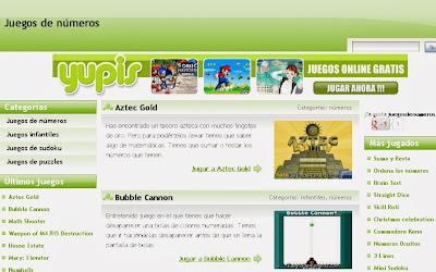 http://www.juegosdenumeros.com/