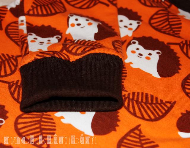für die Shirtwoche: Raglanshirt aus feinem Igelstöffchen