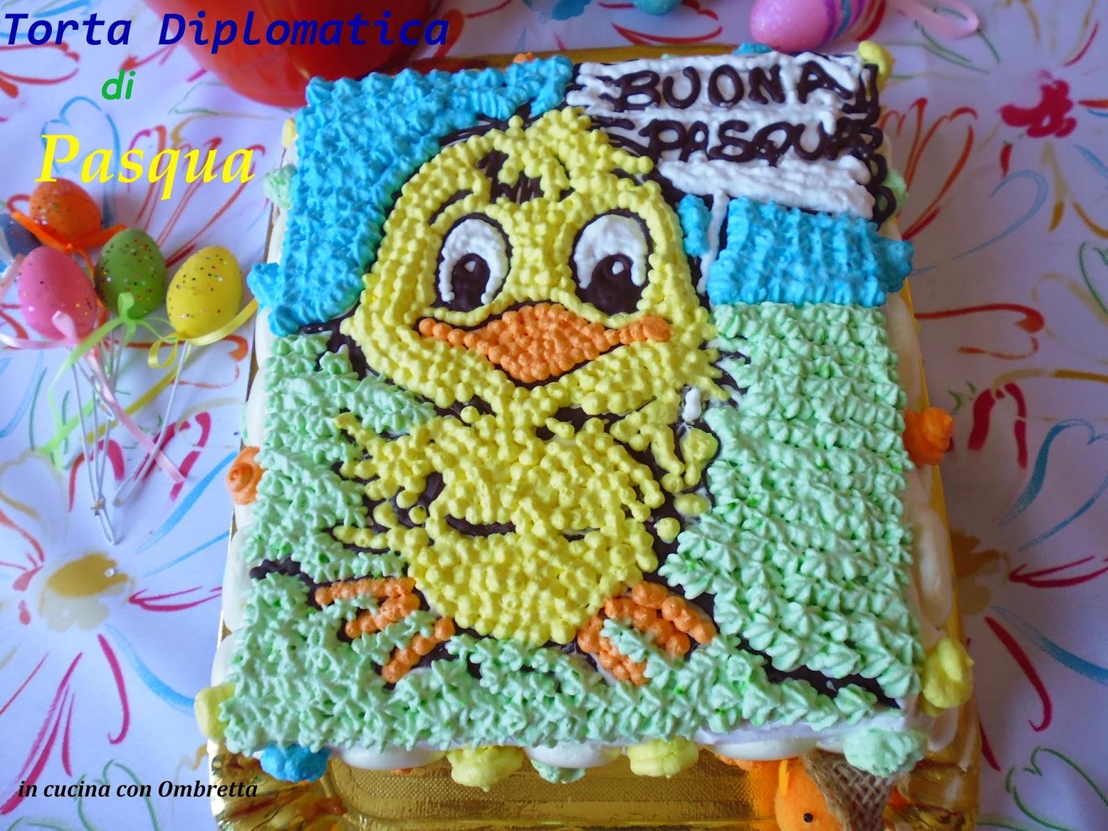 torta diplomatica di pasqua