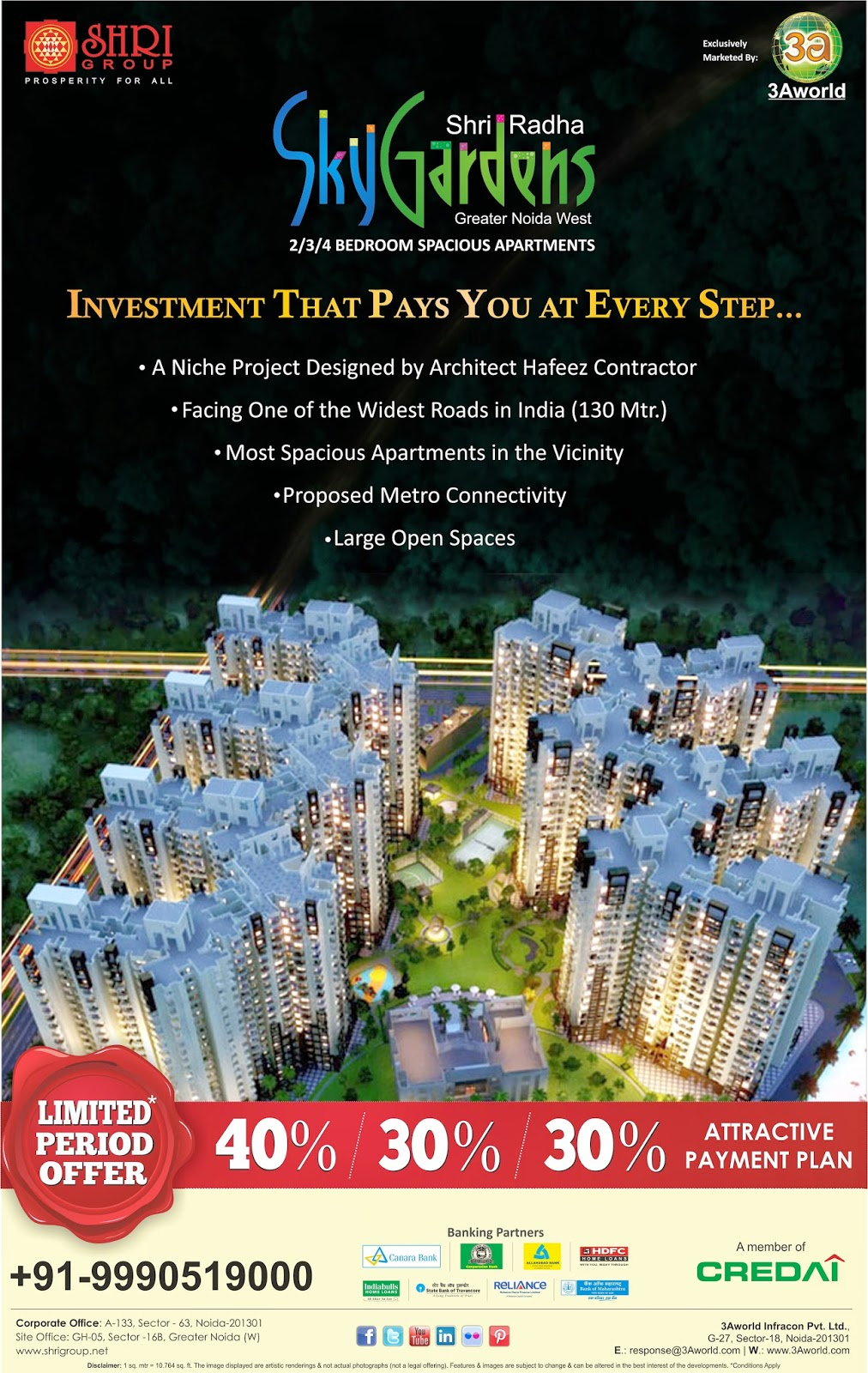Buy Residential Property by SHRI Radha SkyGardens in Greater Noida West