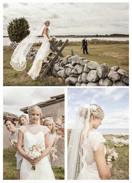 Sy upp bröllopsklänning