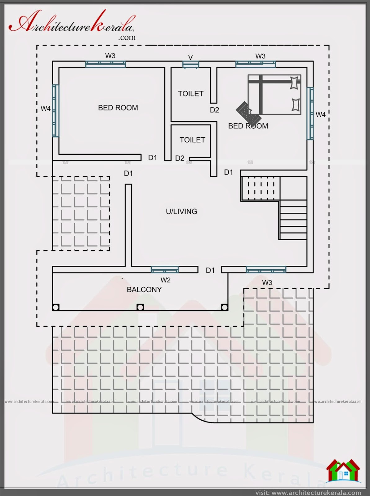 4 bedroom house in 2000 square feet architecture kerala for 4 bedroom house designs in kerala