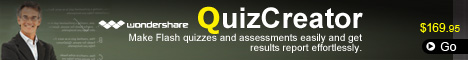 Create Flash-based quizzes and surveys with multimedia objects.