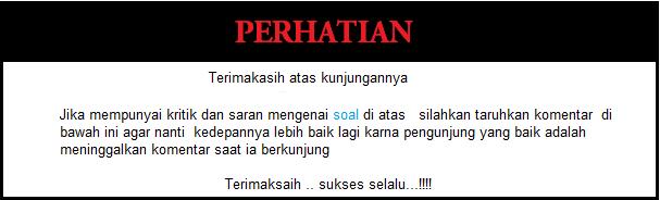 Soal Kelas 1 SD B.indonesia