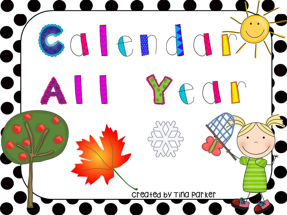 Calendar Cover Page Design : Following first grade with mrs parker july currently