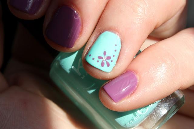 uñas decoradas flor flores esmalte nails