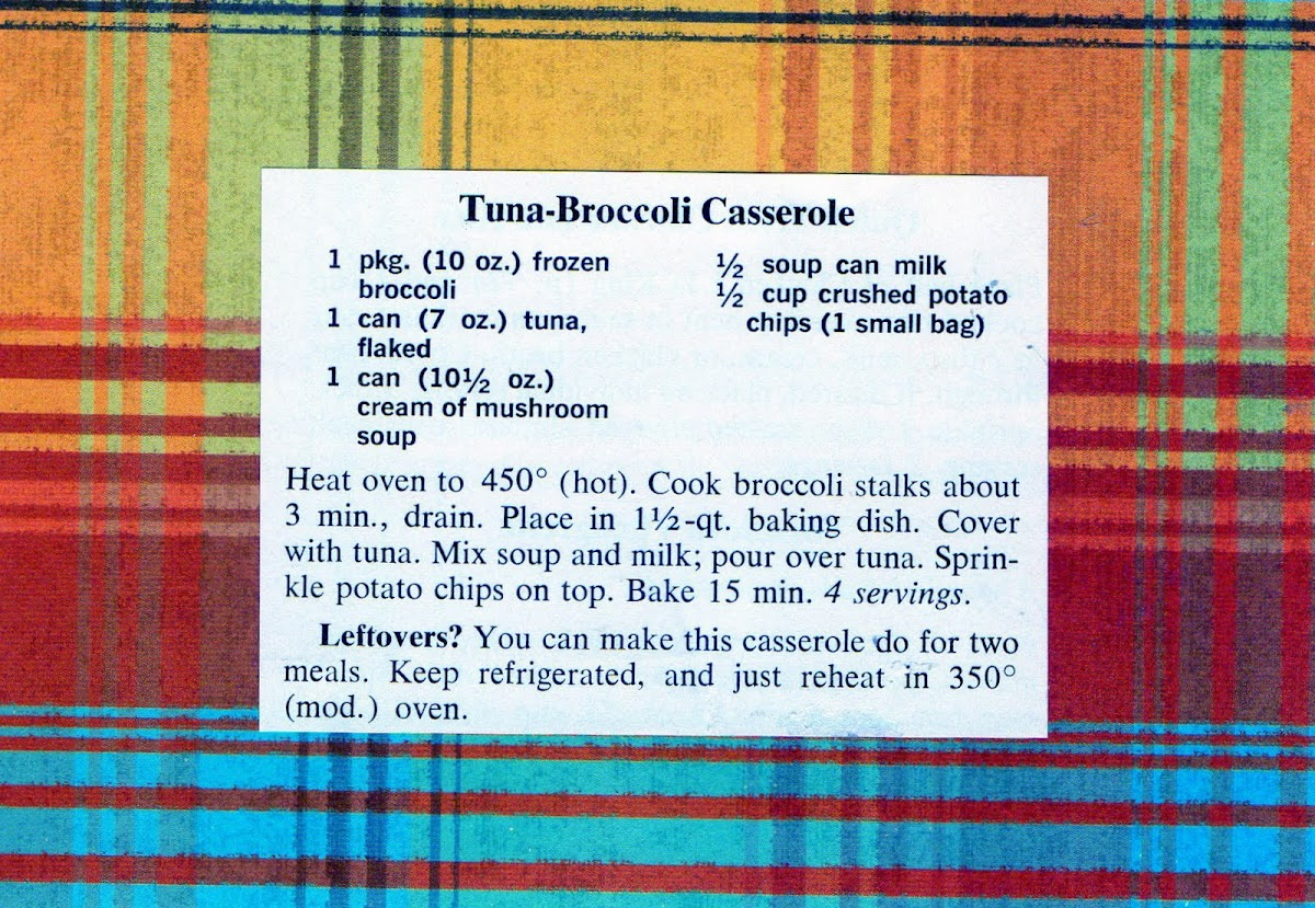 Tuna-Broccoli Casserole (quick recipe)