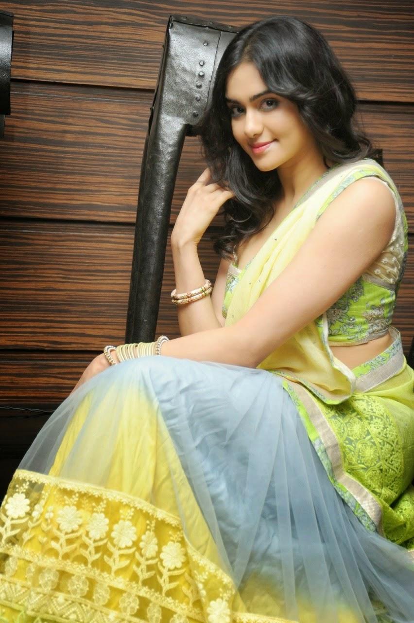 Adah Sharma Latest Sexy Half Saree Stills