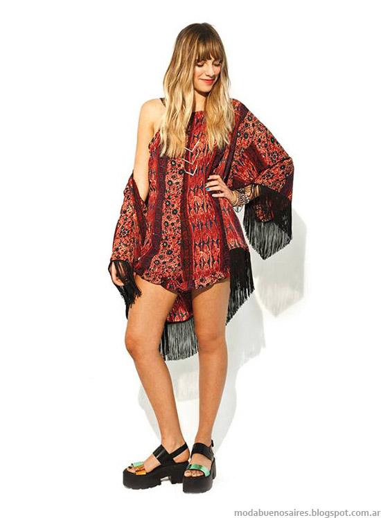 47 Street verano 2015. Moda kimonos 2015.