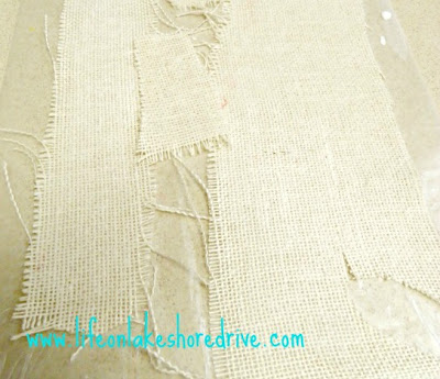 burlap with fabric stiffener how to