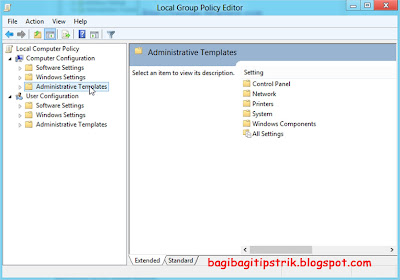 Window Local Group Policy Editor
