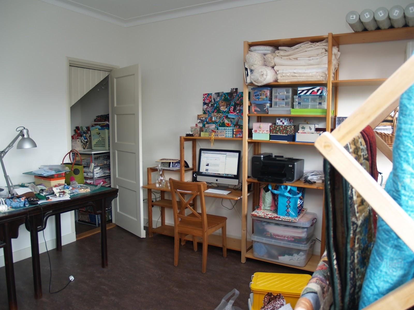 Huisje Boompje Quiltje Organizing My Sewing Room
