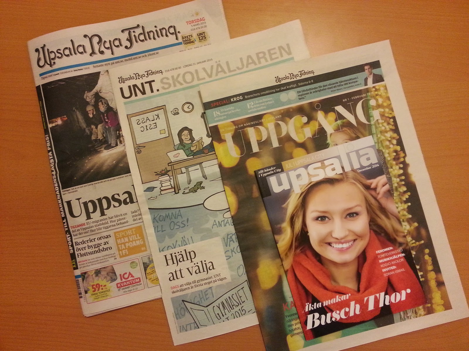 газеты Швеции Уппсала