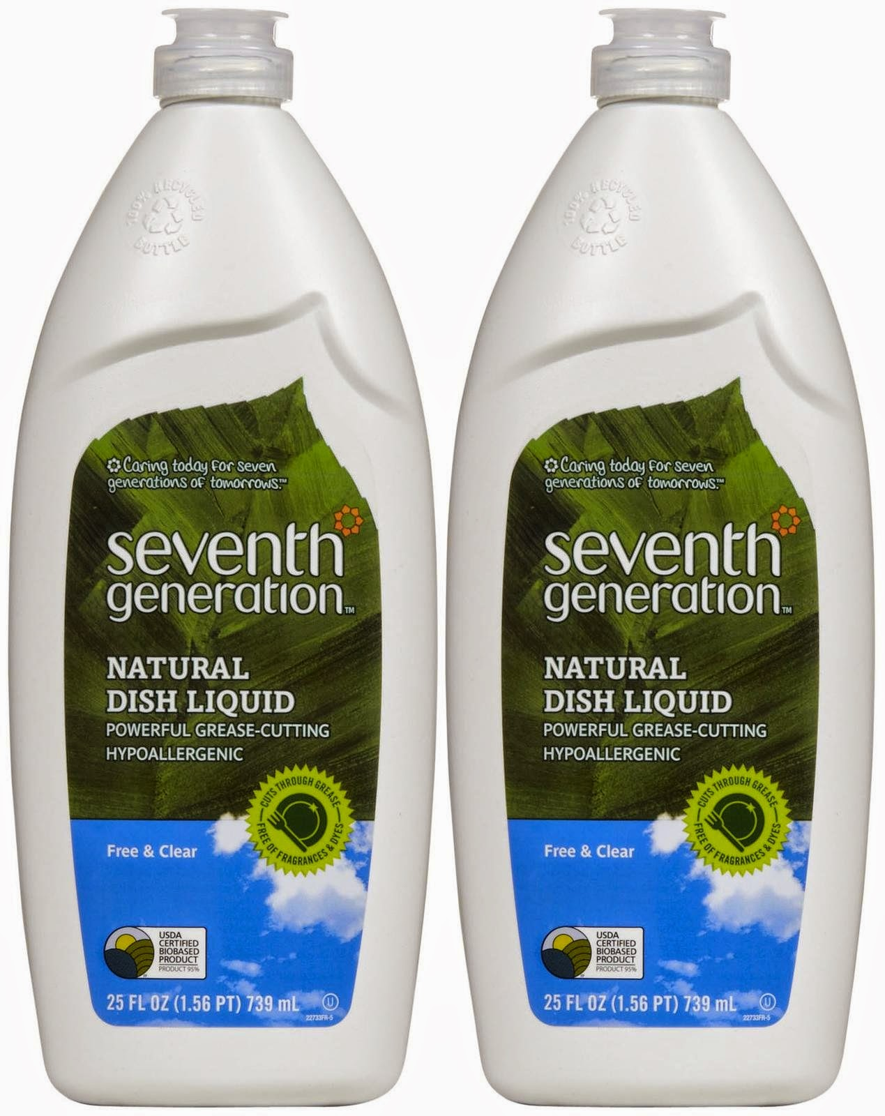 No more stinky sponges - Seventh Generation Dish Liquid