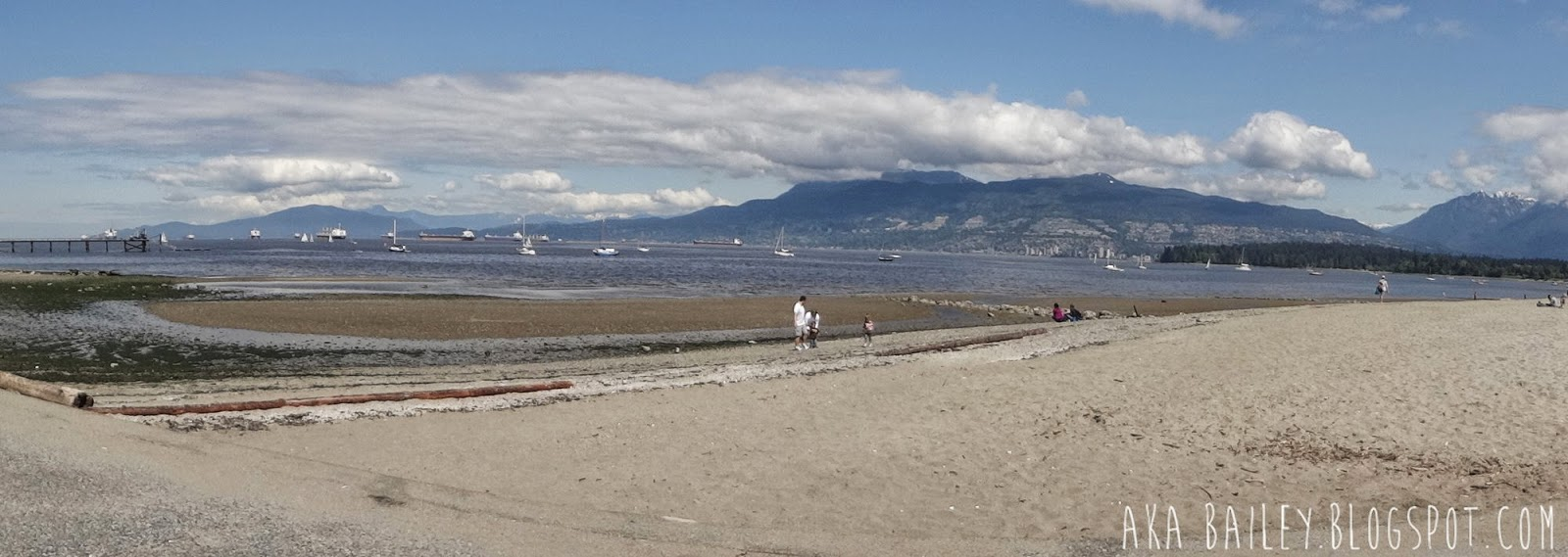 Panoramic of English Bay in Vancouver