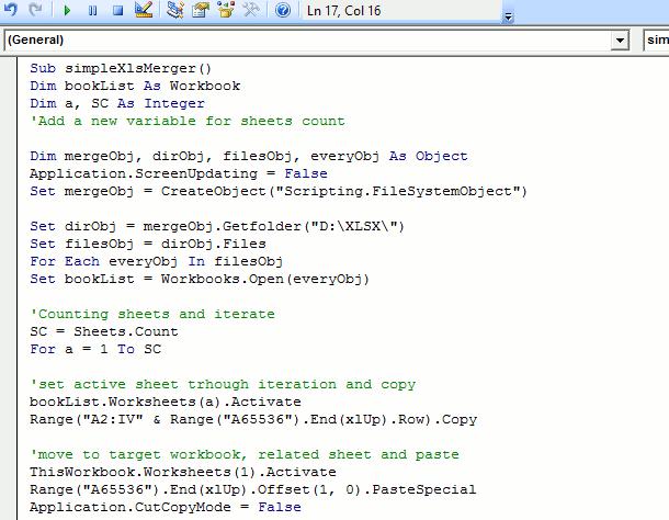 Customize excel merger macros script copying worksheets – Script Worksheets
