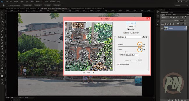 Tutorial Photoshop Mengatur  Nilai Smart Sharpen Photoshop CS6