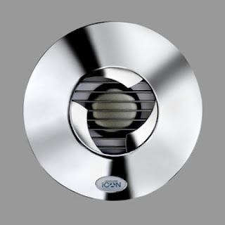 Designer Bathroom Extractor Fans 100MM LOW PROFILE CHROME BATHROOM EXTRACTOR