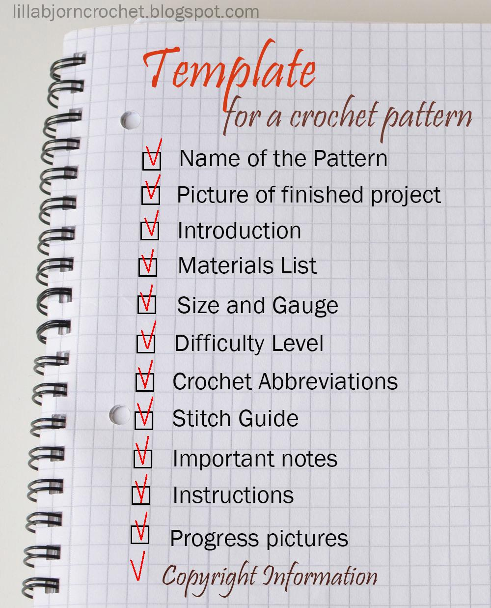 How to write a crochet pattern lillabjrns crochet world how to write a crochet pattern simple and detailed guidelines by lilla bjorn crochet pooptronica