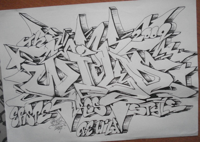 graffiti sketches wildstyle