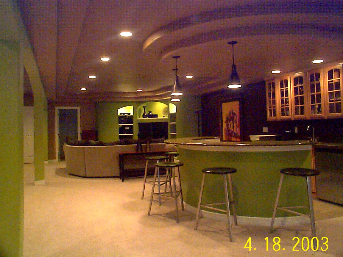 16 creative basement ceiling ideas for your basement for Basement cabinet ideas