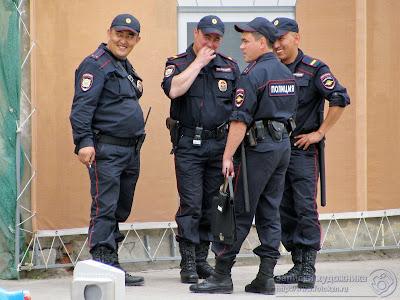 Полицейские, приехавшие на Универсиаду из других регионов