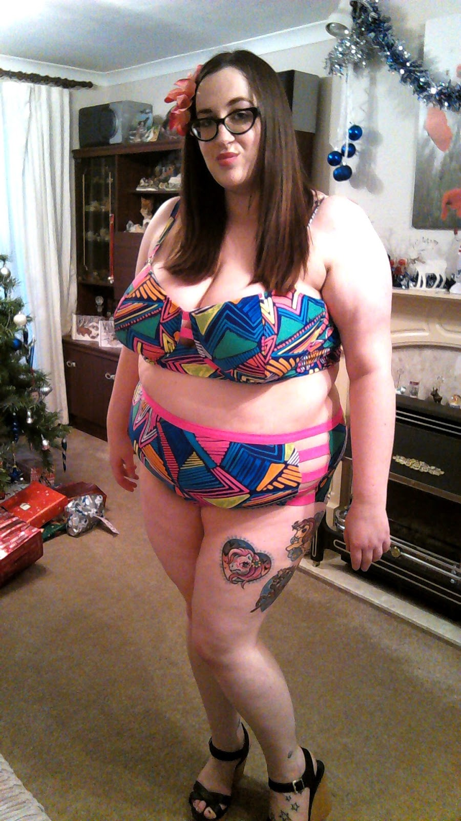 bbw swimsuit New Year, Same Body