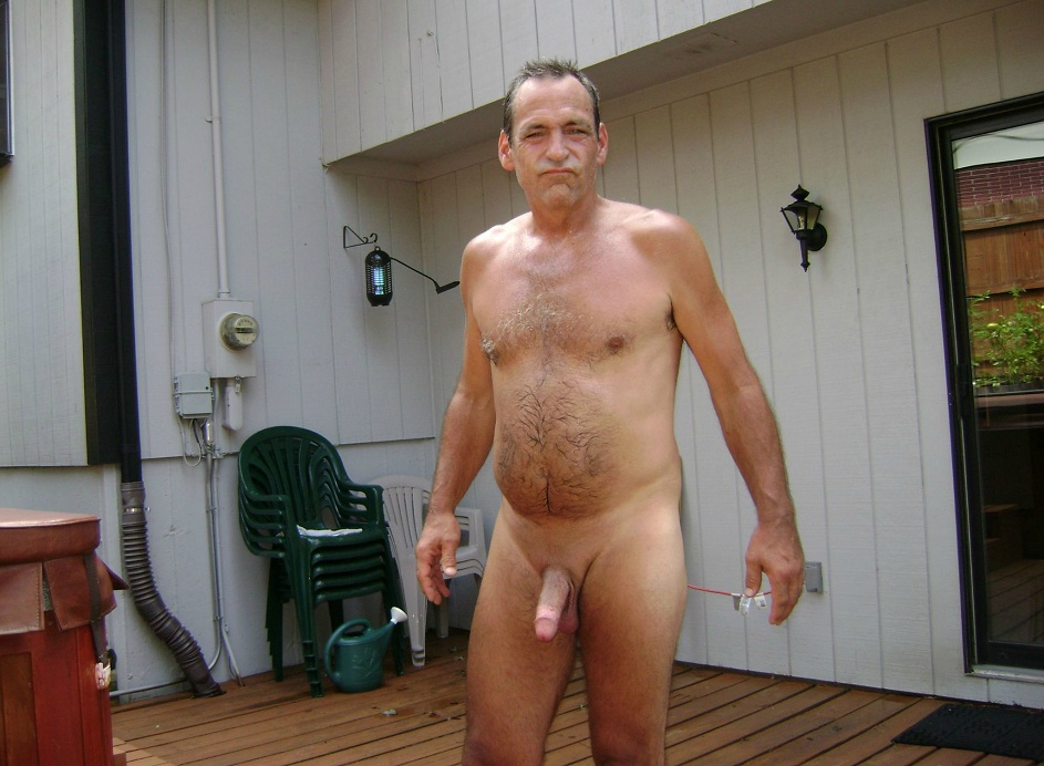 Mature gay red hair nude male
