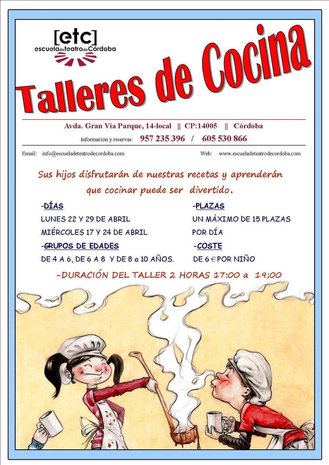 Grupo cultural c rdoba taller de cocina para ni os for Taller cocina ninos
