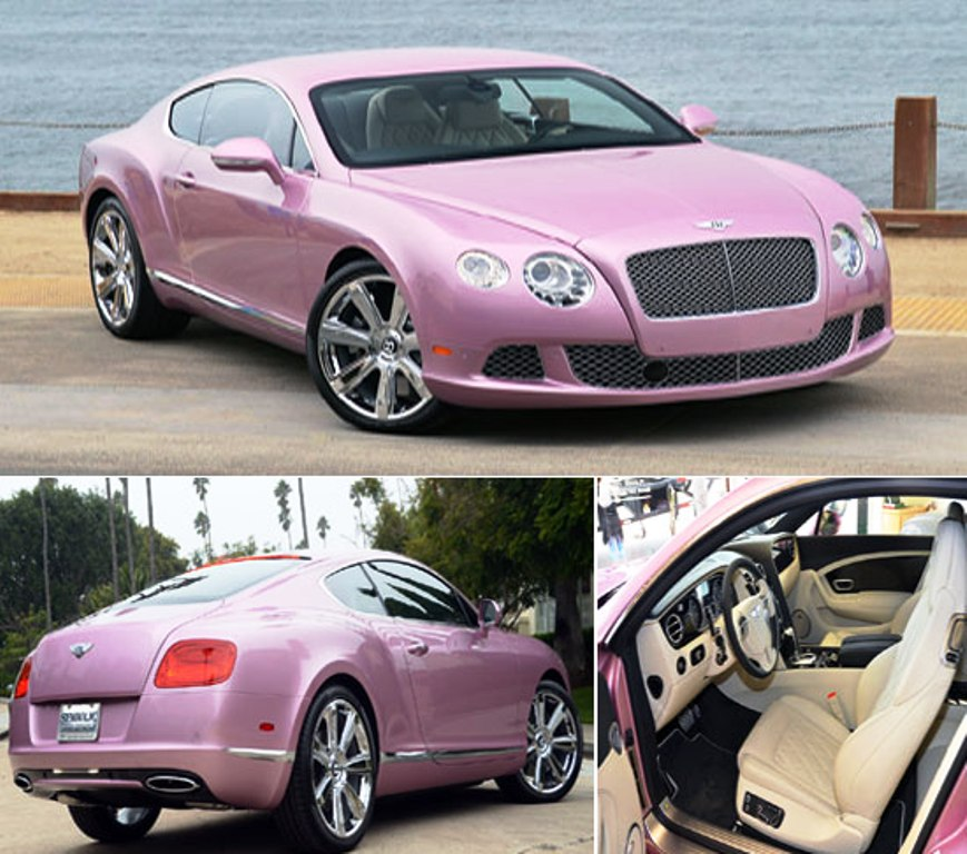 One For The Ladies Bentley Continental Gt Pink: 2012 Pink Bentley Continental GT