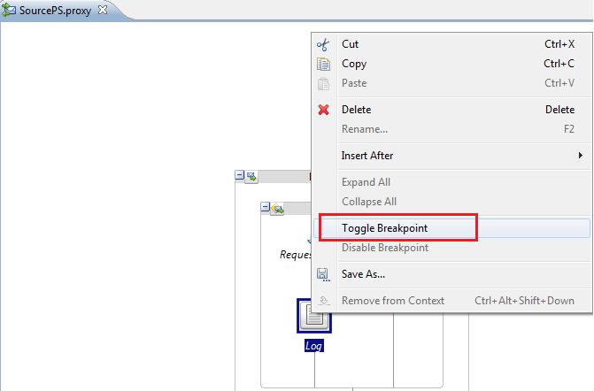 OSB Eclipse Debugger Add Toggle Breakkpoint